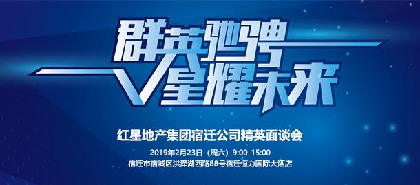 红星地产宿迁公司2月23日精英面谈会